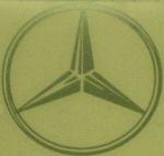 Kleverset MERCEDES logo 20 cm metallic - 2 stuks
