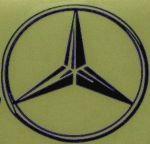 Kleverset MERCEDES logo 20 cm zwart- 2 stuks