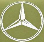 Kleverset MERCEDES logo 20 cm wit -2 stuks
