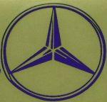 Kleverset MERCEDES logo 20 cm blauw- 2 stuks