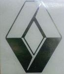 Kleverset RENAULT logo 20 cm chroom- 2 stuks