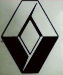 Kleverset RENAULT logo 20 cm zwart- 2 stuks