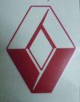 Kleverset RENAULT logo 20 cm rood -2 stuks