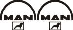 Kleverset MAN logo 20 cm zwart - 2stuks