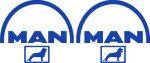 Kleverset MAN logo 20 cm blauw - 2stuks