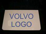 Spatlapset wit Volvo/logo blauw
